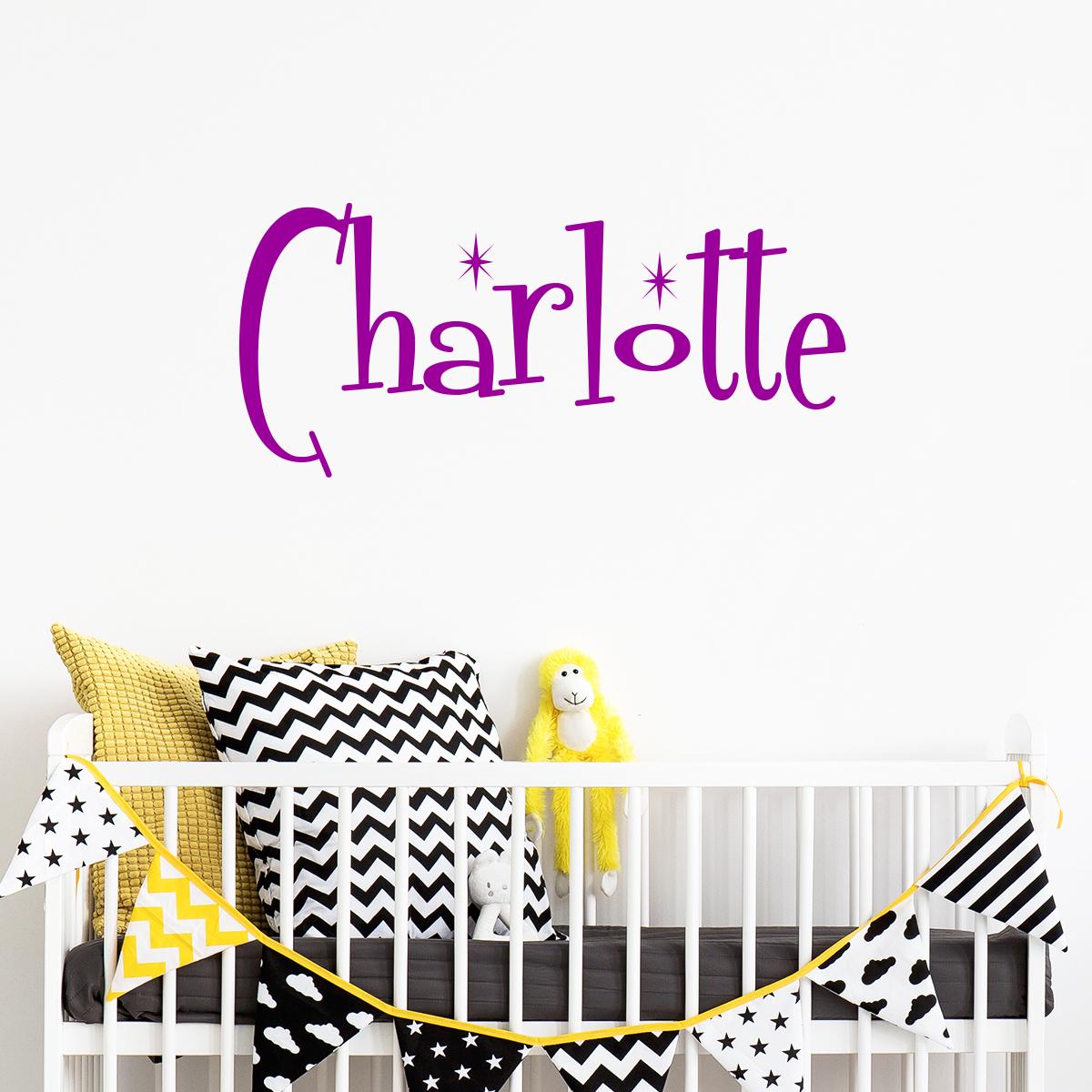 sticker pr nom personnalisable enfants divin stickers. Black Bedroom Furniture Sets. Home Design Ideas