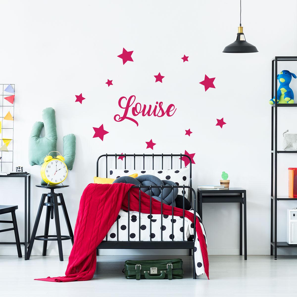 sticker pr nom personnalisable toiles chambre enfants. Black Bedroom Furniture Sets. Home Design Ideas