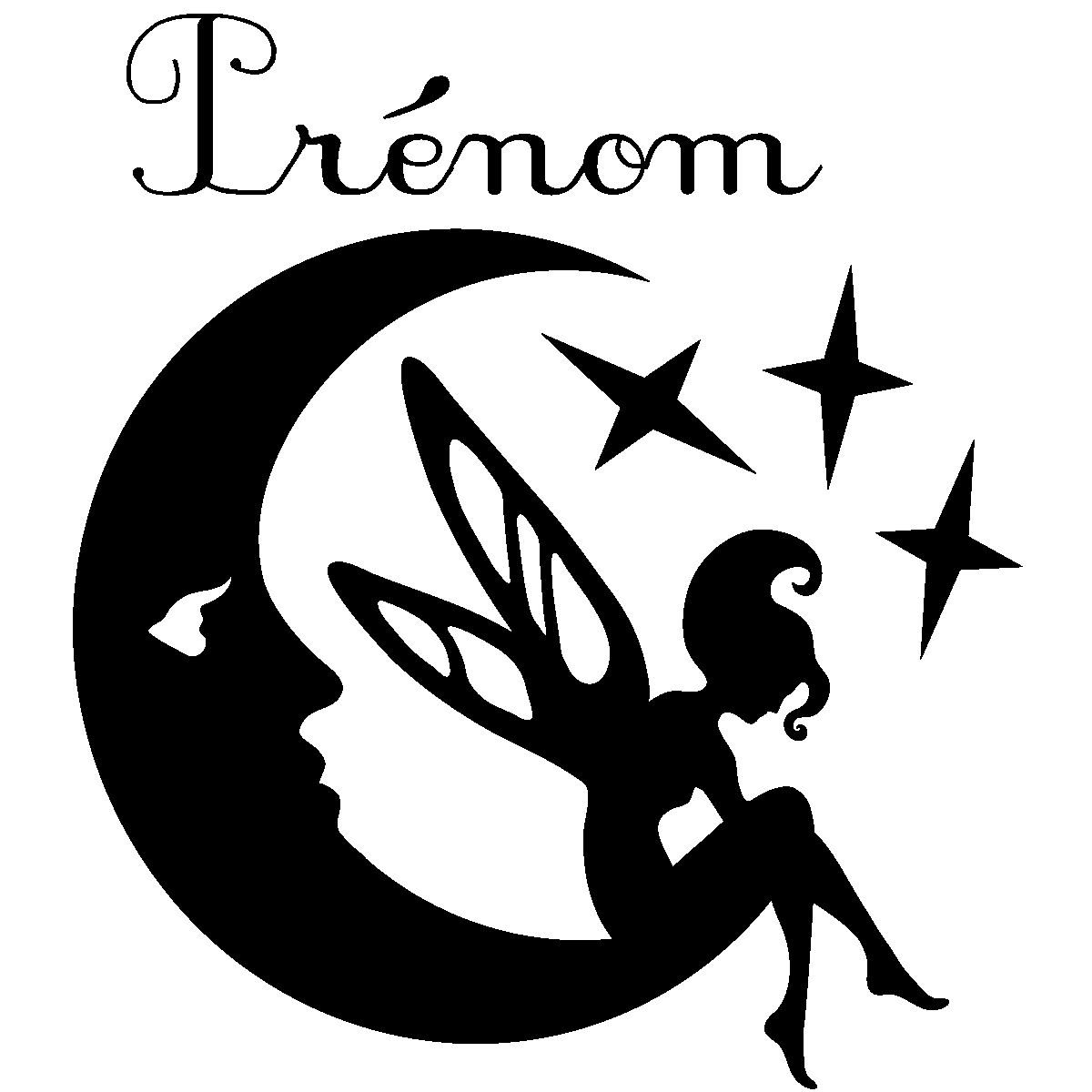 Sticker prénom personnalisable fée rêveuse – Filles Fées