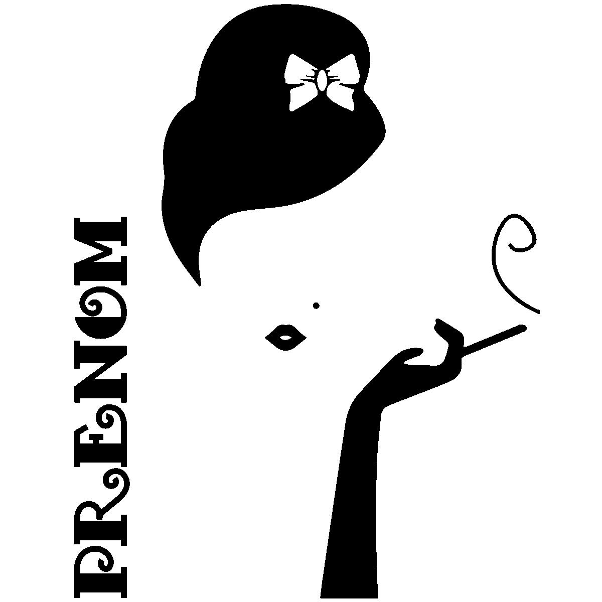 Sticker prénom personnalisable Glamour retro – Chambre Ado