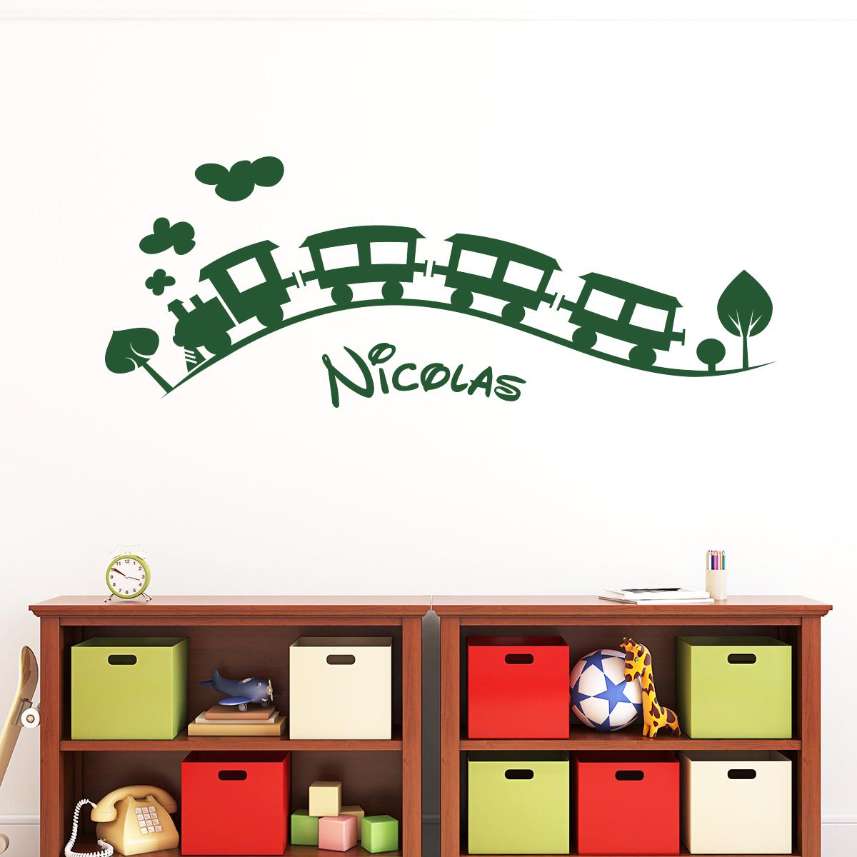 Sticker prénom personnalisable le train des enfants – Mini