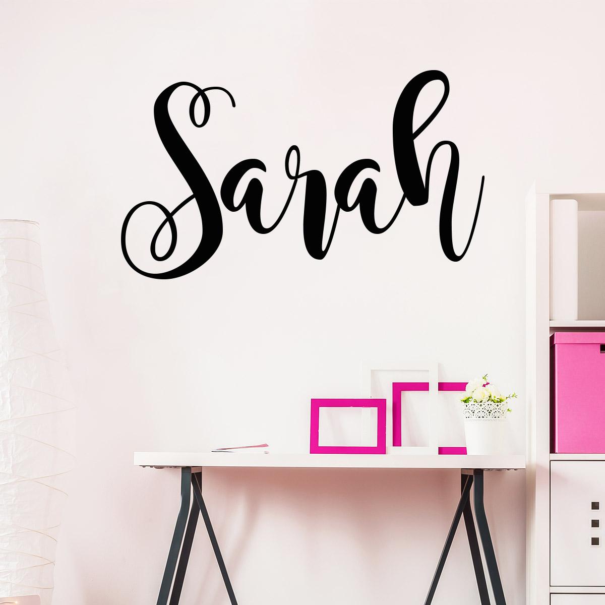 sticker pr nom personnalisable manuscrit c leste. Black Bedroom Furniture Sets. Home Design Ideas