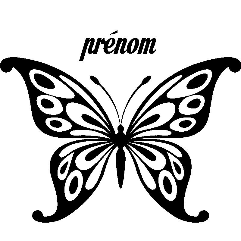 sticker pr nom personnalisable papillon panouis. Black Bedroom Furniture Sets. Home Design Ideas