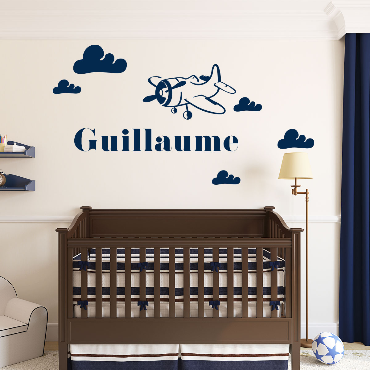 Awesome stickers chambre bebe nuage photos awesome - Stickers chambre bebe ...