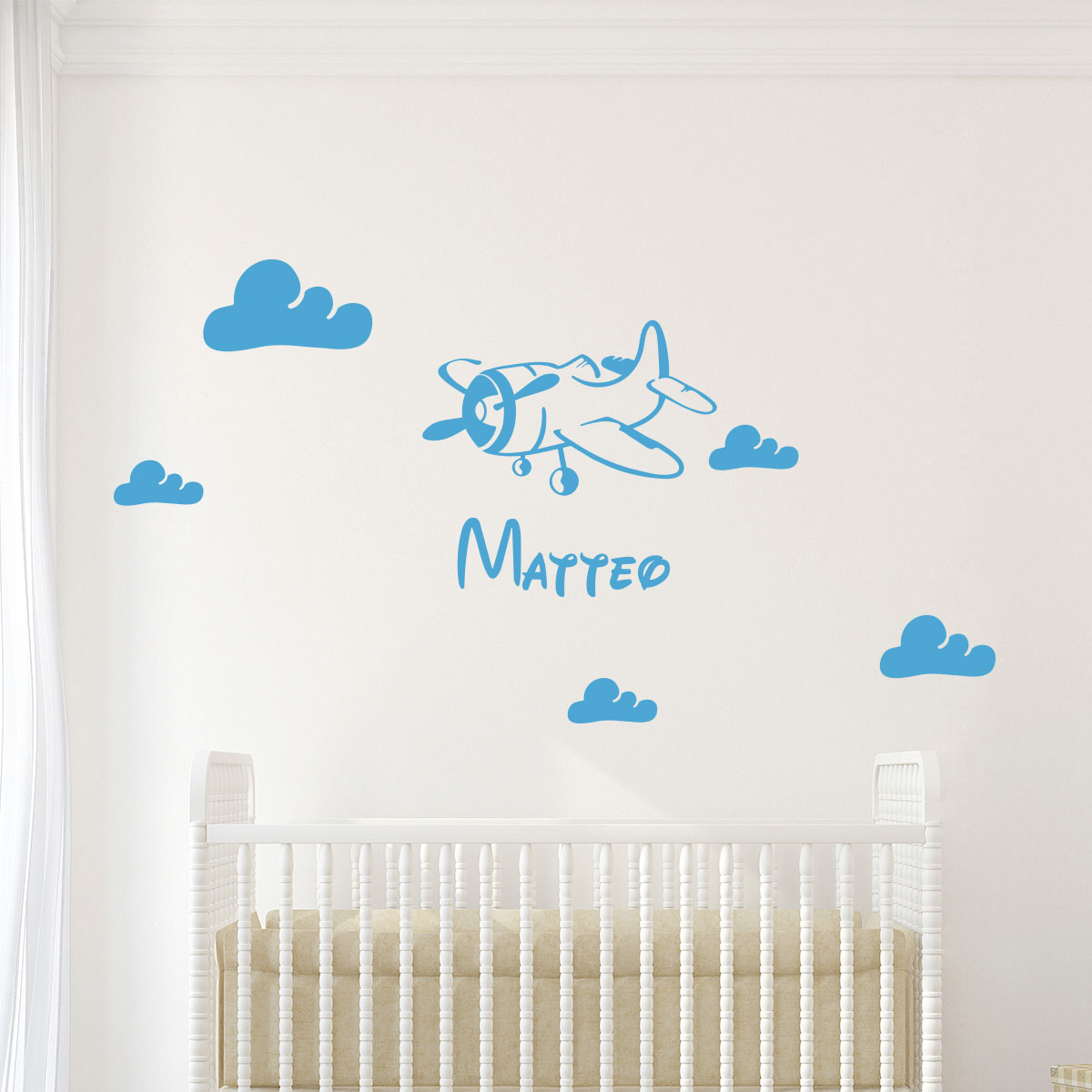 sticker pr 233 nom personnalis 233 avion et nuages mini stickers pr 233 nom perso ambiance sticker