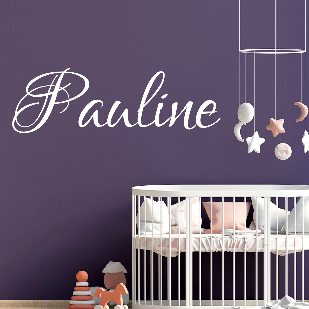 sticker pr nom personnalis calligraphie splendide stickers chambre enfants pr noms ambiance. Black Bedroom Furniture Sets. Home Design Ideas