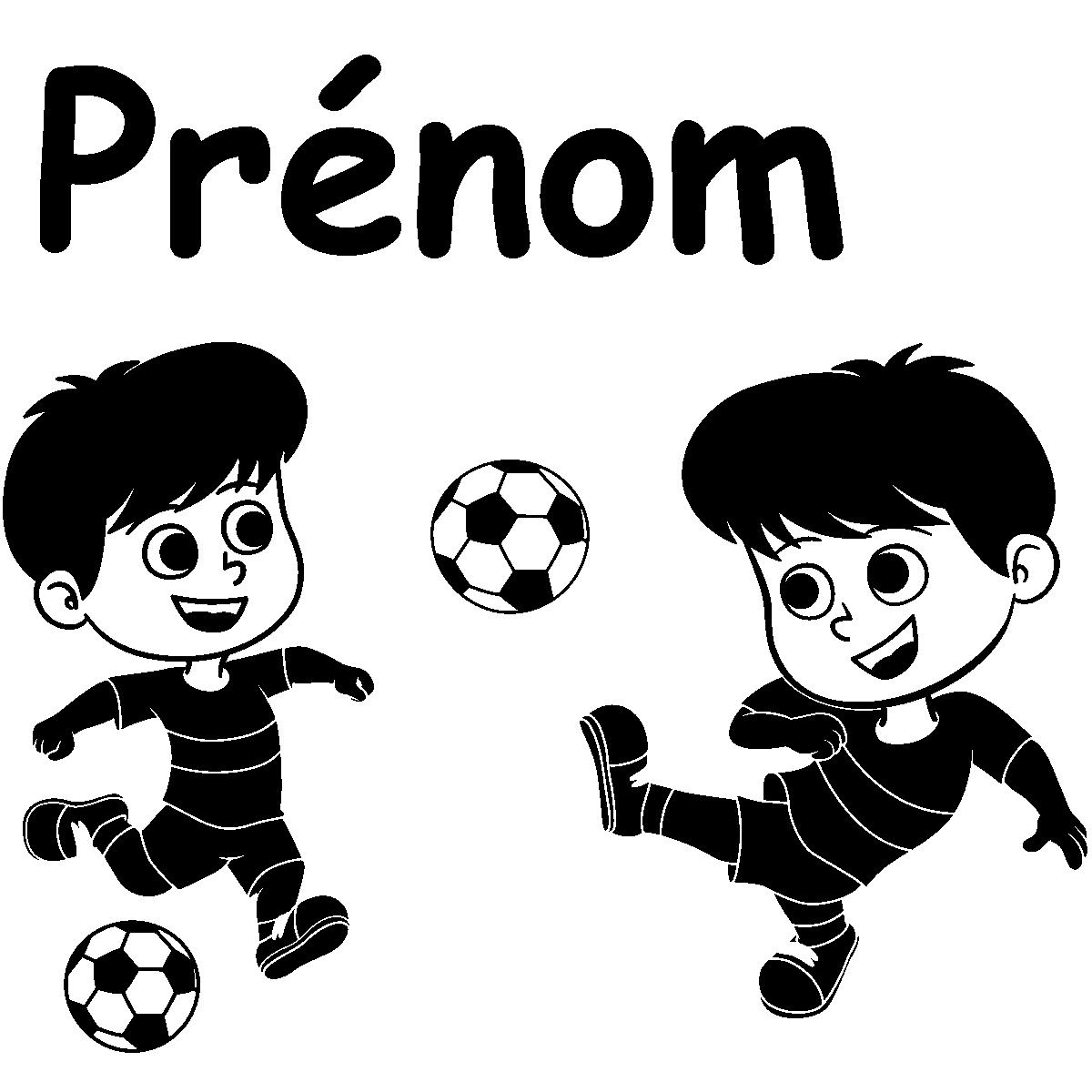 Sticker pr nom personnalis enfants foot sports et football football ambiance sticker - Stickers muraux personnalise ...