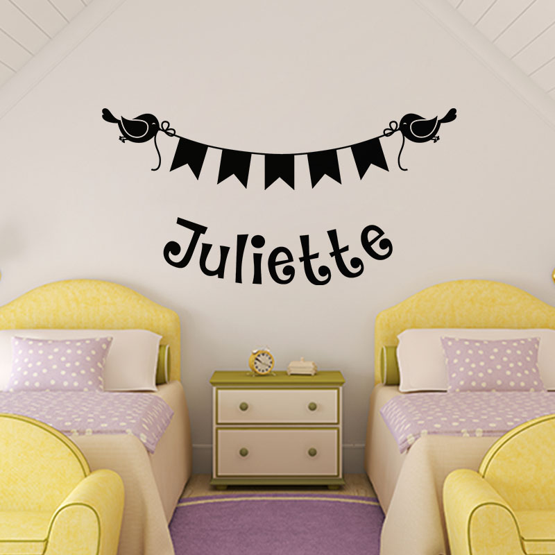 sticker pr nom personnalis et sa banderole animaux chiens ambiance sticker. Black Bedroom Furniture Sets. Home Design Ideas