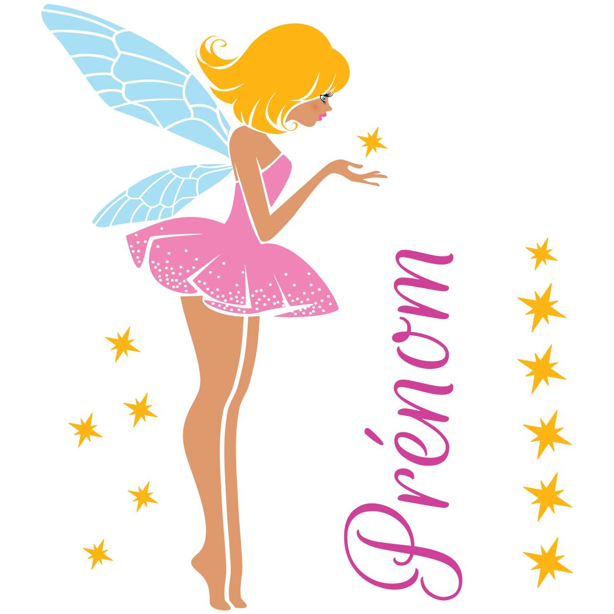 Sticker pr nom personnalis f e de l 39 amour stickers filles f es ambiance sticker - Stickers muraux personnalise ...
