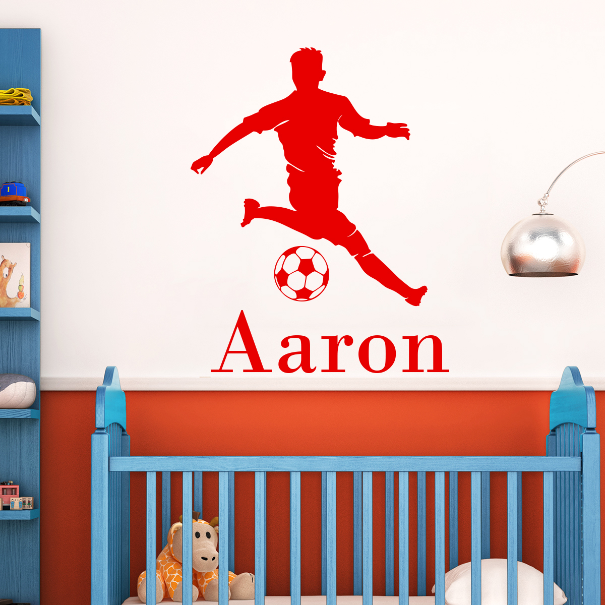 sticker pr nom personnalis footballeur dribblant sports et football football ambiance sticker. Black Bedroom Furniture Sets. Home Design Ideas