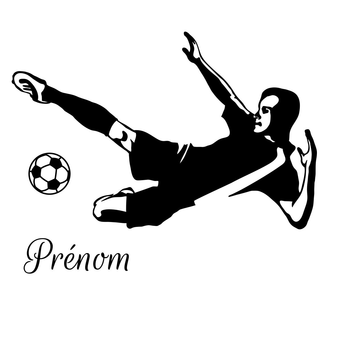 Sticker pr nom personnalis footballeur professionnel - Stickers muraux personnalise ...