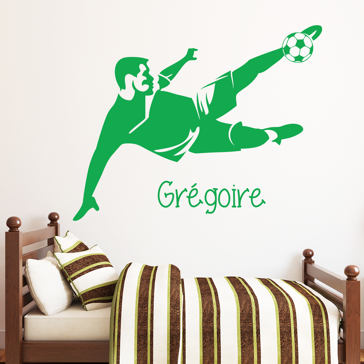 sticker pr nom personnalis footballeur reprise de vol e sports et football football. Black Bedroom Furniture Sets. Home Design Ideas