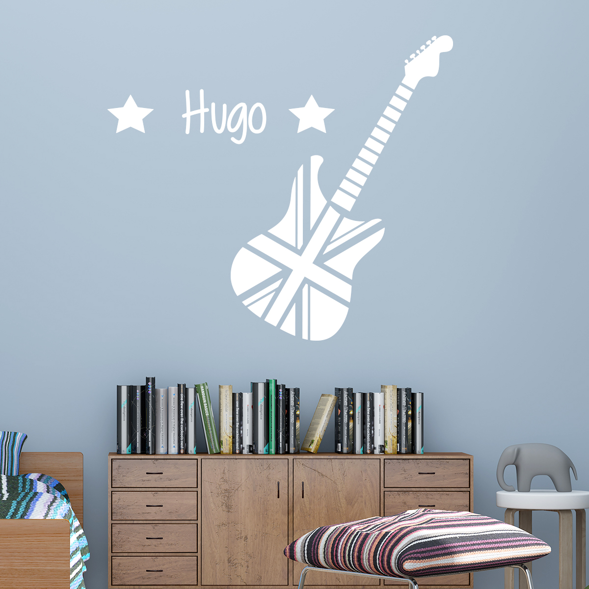sticker pr nom personnalis guitare d angleterre villes et voyages londres ambiance sticker. Black Bedroom Furniture Sets. Home Design Ideas
