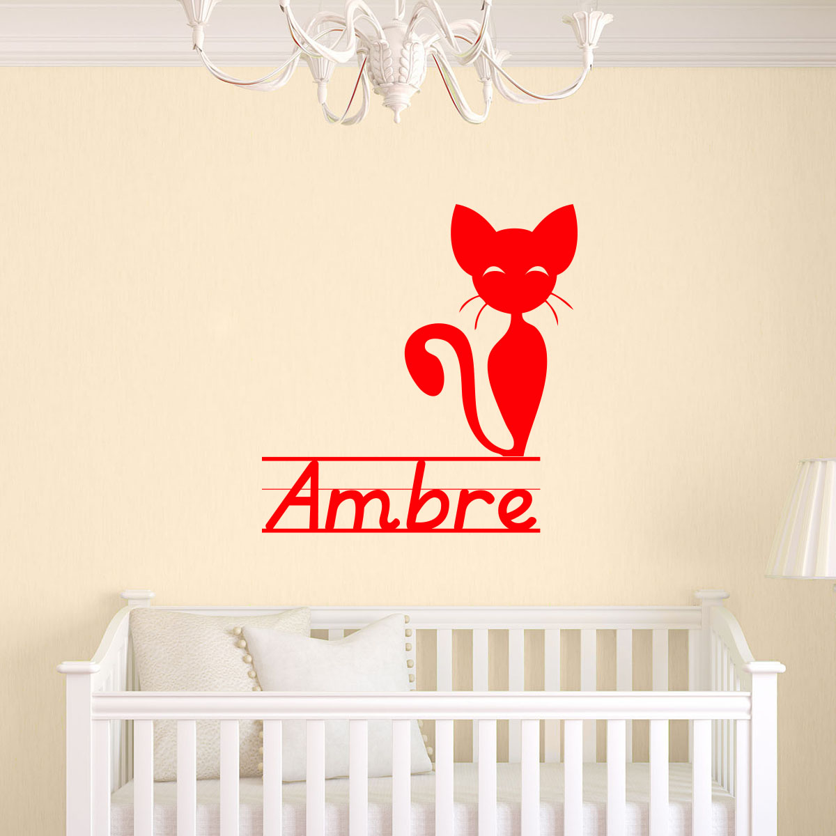 sticker pr nom personnalis mignon petit chat mini stickers pr nom perso ambiance sticker. Black Bedroom Furniture Sets. Home Design Ideas