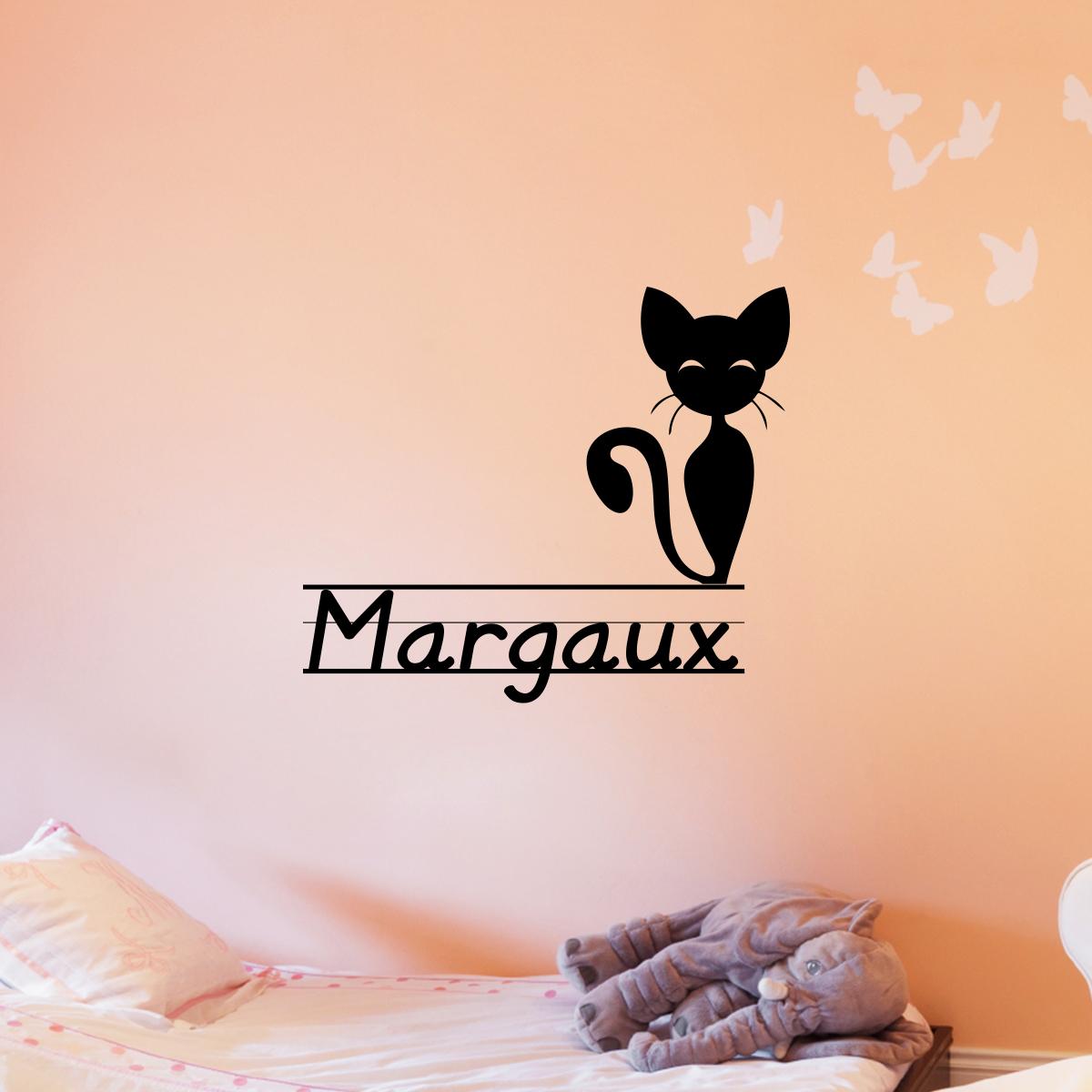 Sticker pr nom personnalis mignon petit chat mini stickers pr nom perso ambiance sticker - Stickers muraux personnalise ...