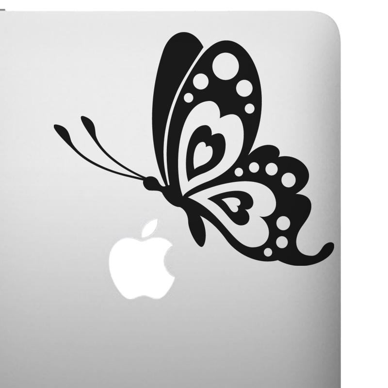 stickers ordinateurs portables sticker profil papillon ambiance. Black Bedroom Furniture Sets. Home Design Ideas