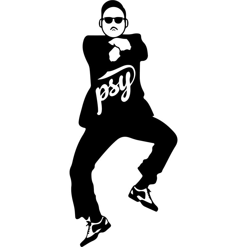 Sticker psy gangnam style stickers musique cinema - Dessin de psy ...