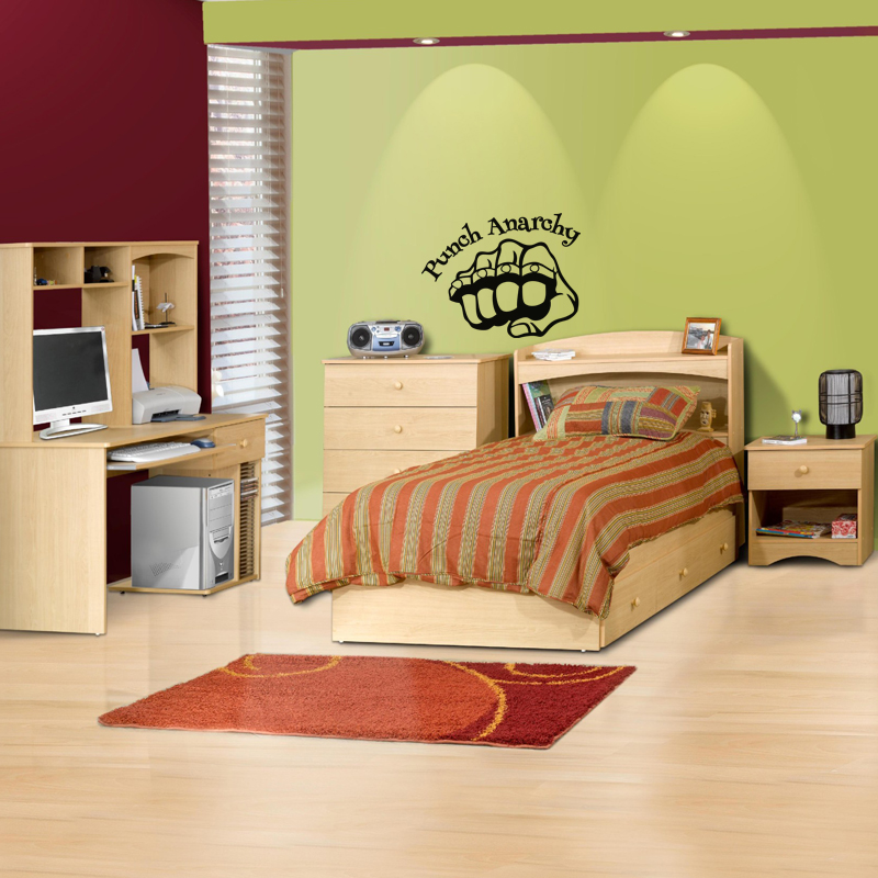 stickers muraux pour chambre sticker mural punch anarchy ambiance. Black Bedroom Furniture Sets. Home Design Ideas