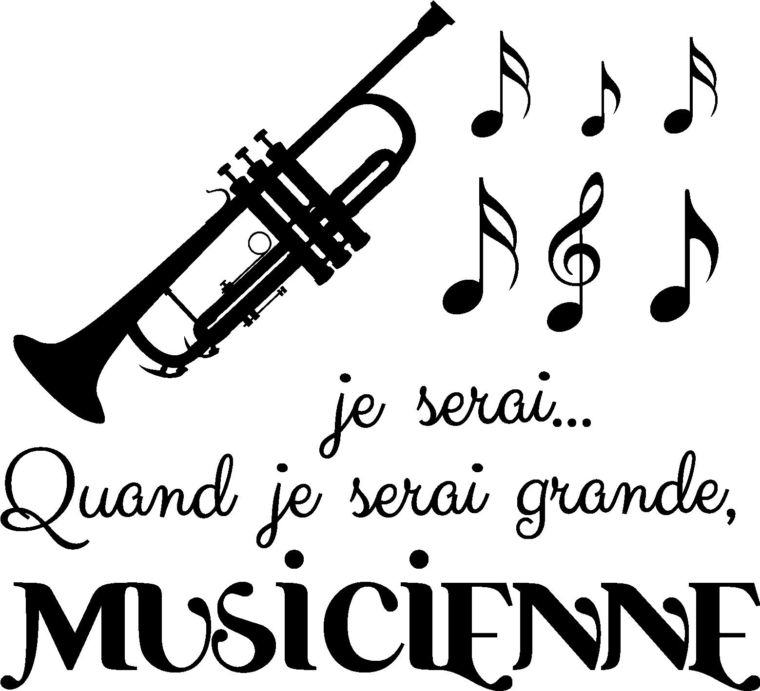 Sticker Quand je serai grande je serai musicienne Stickers