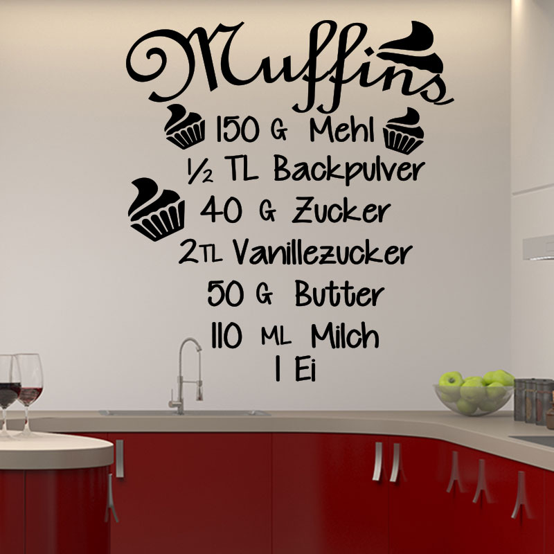 sticker recette cuisine muffins mehl backpulver stickers cuisine nourriture et fruits. Black Bedroom Furniture Sets. Home Design Ideas