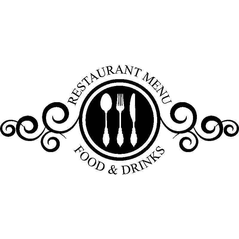sticker restaurant menu food and drinks stickers. Black Bedroom Furniture Sets. Home Design Ideas