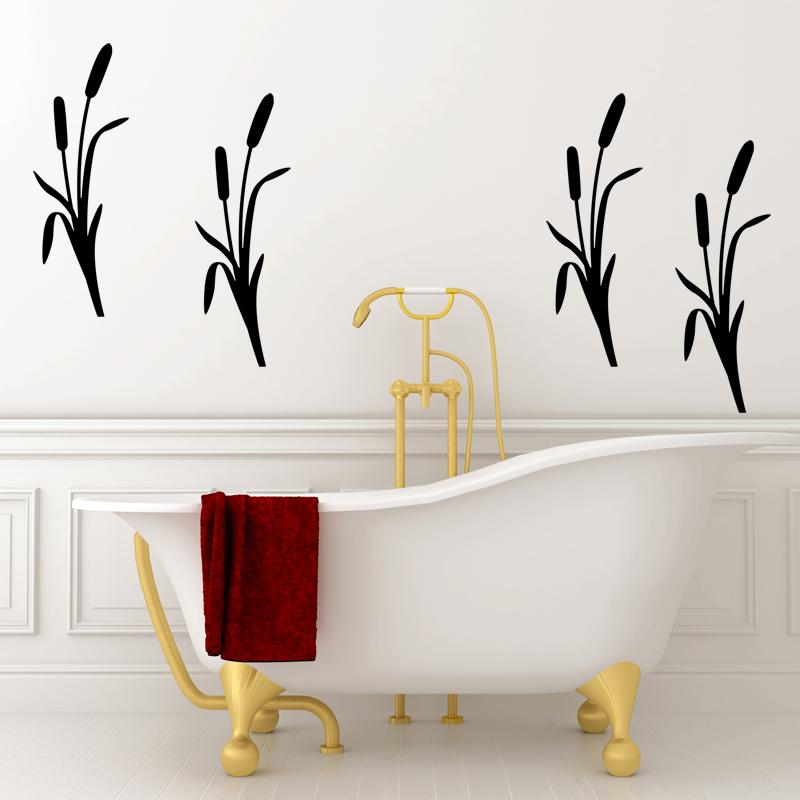 stickers muraux pour salle de bain sticker mural roseau ambiance. Black Bedroom Furniture Sets. Home Design Ideas