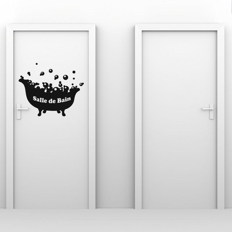 Sticker salle de bain baignoire avec bulles stickers - Baignoire et bulles ...