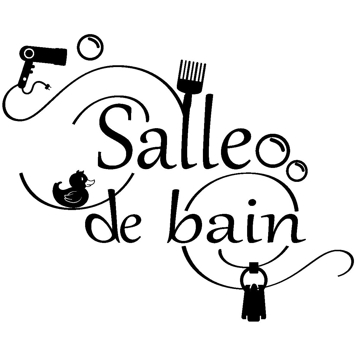 Sticker Salle De Bain Accessoires Stickers Salle De Bain Mur - Stickers salle de bain