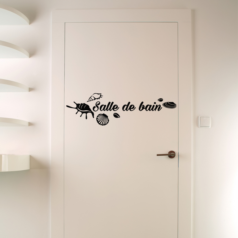 sticker salle de bain avec coquillages stickers salle de bain mur salle de bain ambiance sticker. Black Bedroom Furniture Sets. Home Design Ideas