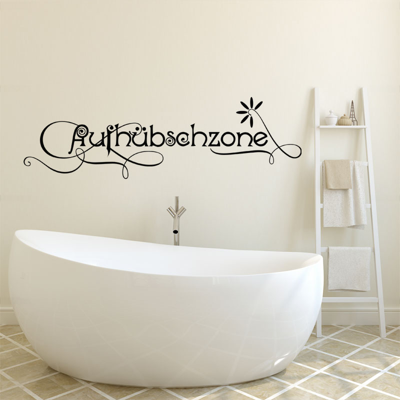 Sticker salle de bain citation aufh bschzone fleurs for Citation salle de bain