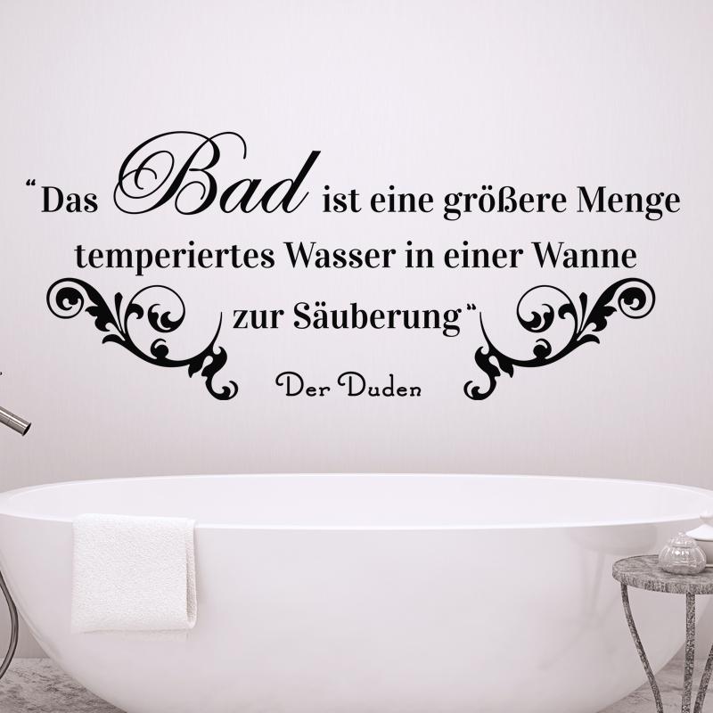 Sticker Salle De Bain Citation Das Bad Ist Ine Grobere   - Der