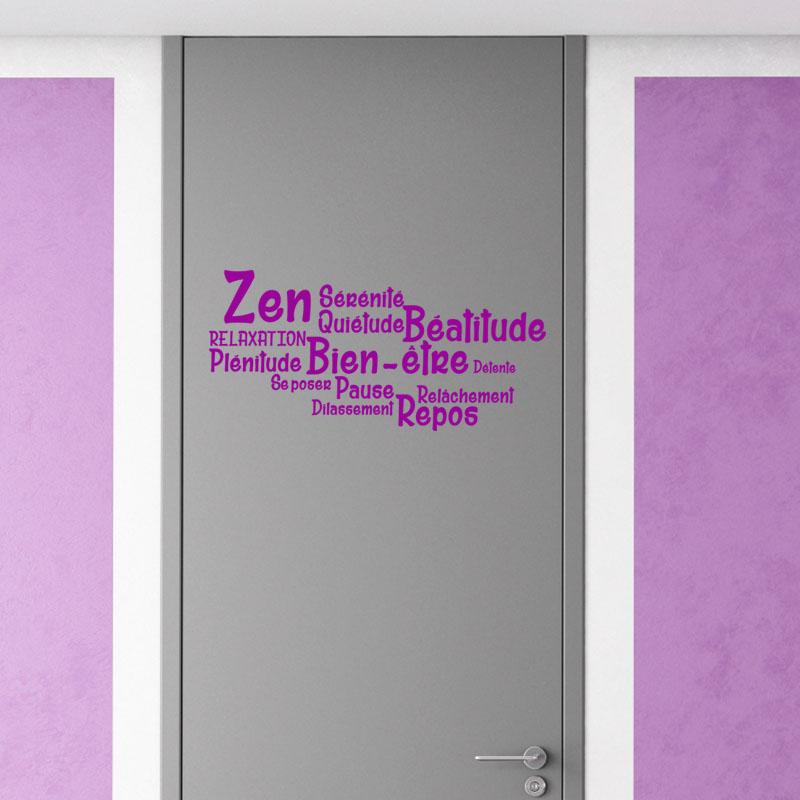 Sticker salle de bain citation zen bien tre repos for Poster pour salle de bain