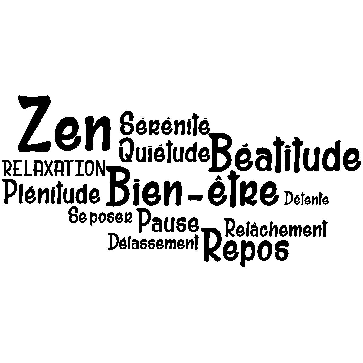 Salle De Bain Style Urbain ~ Sticker Salle De Bain Citation Zen Bien Tre Repos Stickers