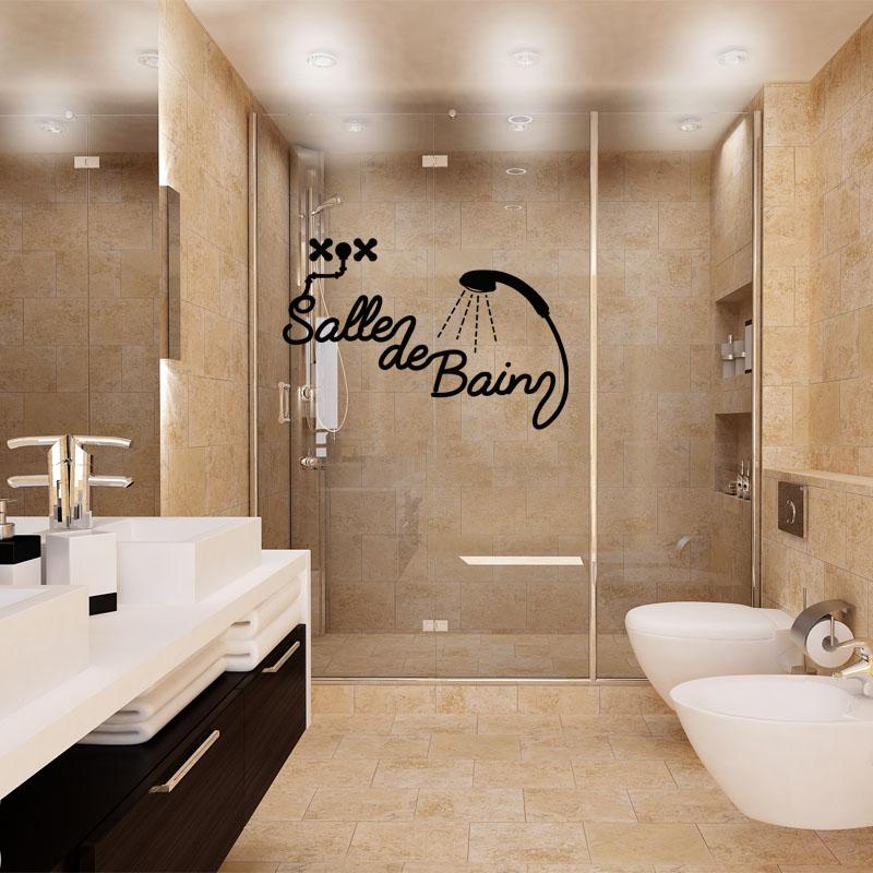 Sticker salle de bain douche stickers salle de bain mur for Decoration douche salle bain