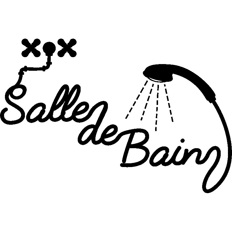 Sticker Salle De Bain Douche Stickers Salle De Bain Mur Salle De - Stickers salle de bain