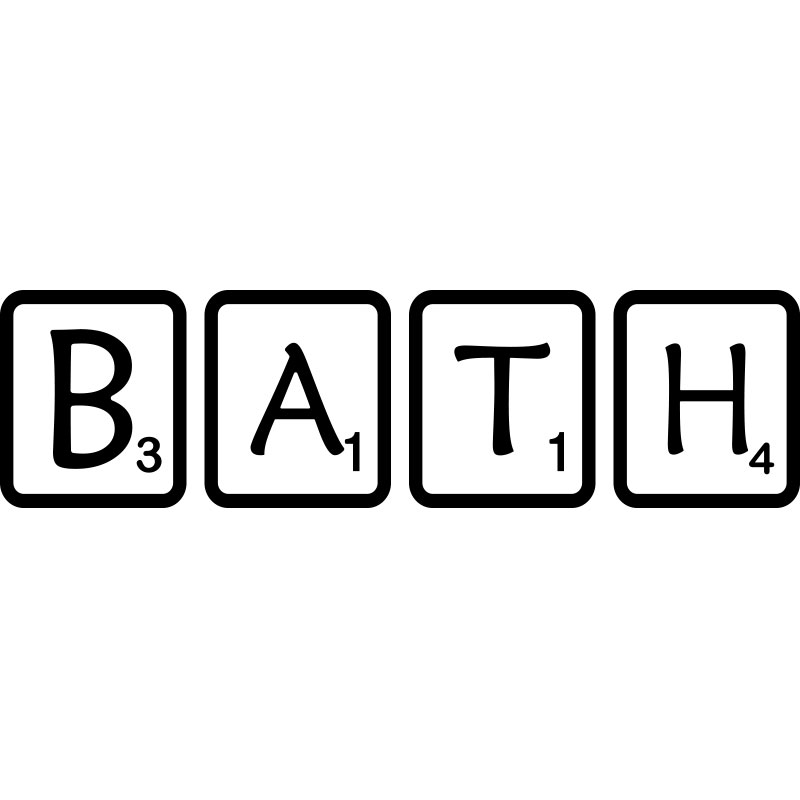 sticker salle de bain scrabble bath stickers citations anglais ambiance sticker. Black Bedroom Furniture Sets. Home Design Ideas