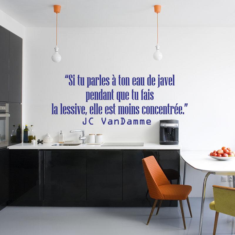 sticker si tu parles ton eau de javel jc vandamme stickers cuisine textes et recettes. Black Bedroom Furniture Sets. Home Design Ideas