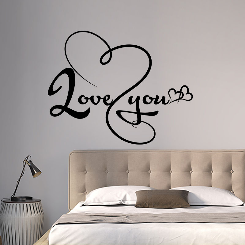 Sticker signer love you stickers chambre amour for Stickers chambre love