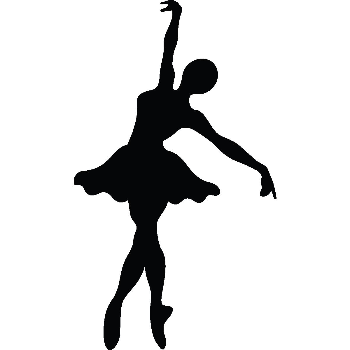 stickers muraux de silhouettes et personnages sticker silhouette danseuse ambiance. Black Bedroom Furniture Sets. Home Design Ideas