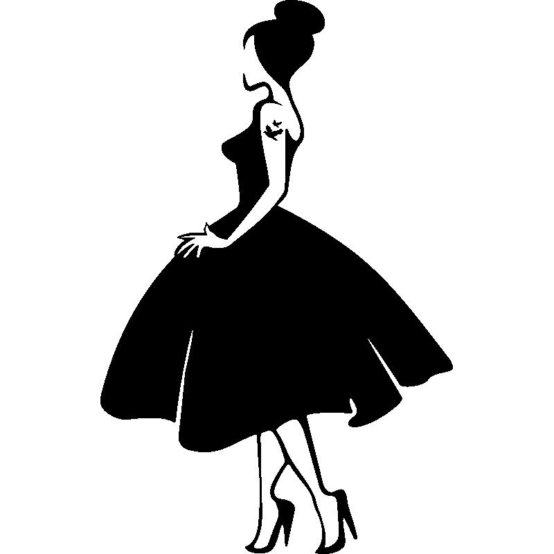 sticker silhouette de femme avec robe de princesse dancing clip art free downloads dancing clip art free downloads