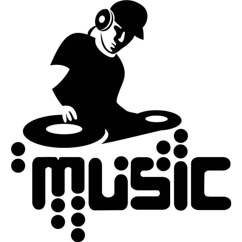 Sticker Silhouette Dj Stickers Musique Amp Cinema Musique