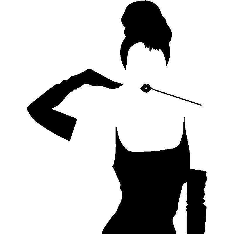 Sticker Silhouette Femme 233 L 233 Gante Stickers Musique