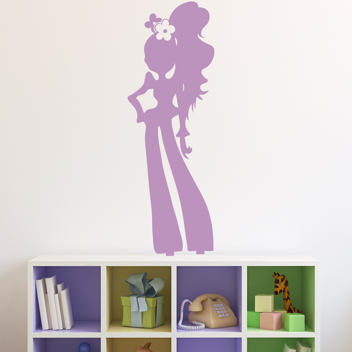 Sticker silhouette fille glamour stickers chambre ado for Stickers chambre ado fille
