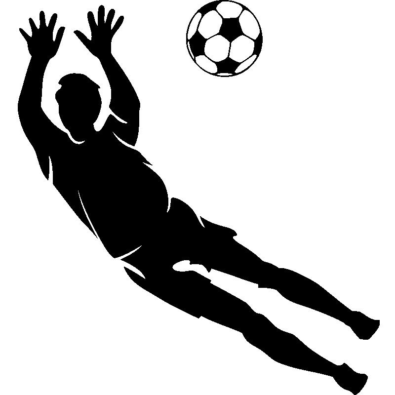 Stickers sport et football sticker silhouette gardien de - Gardien de but dessin ...