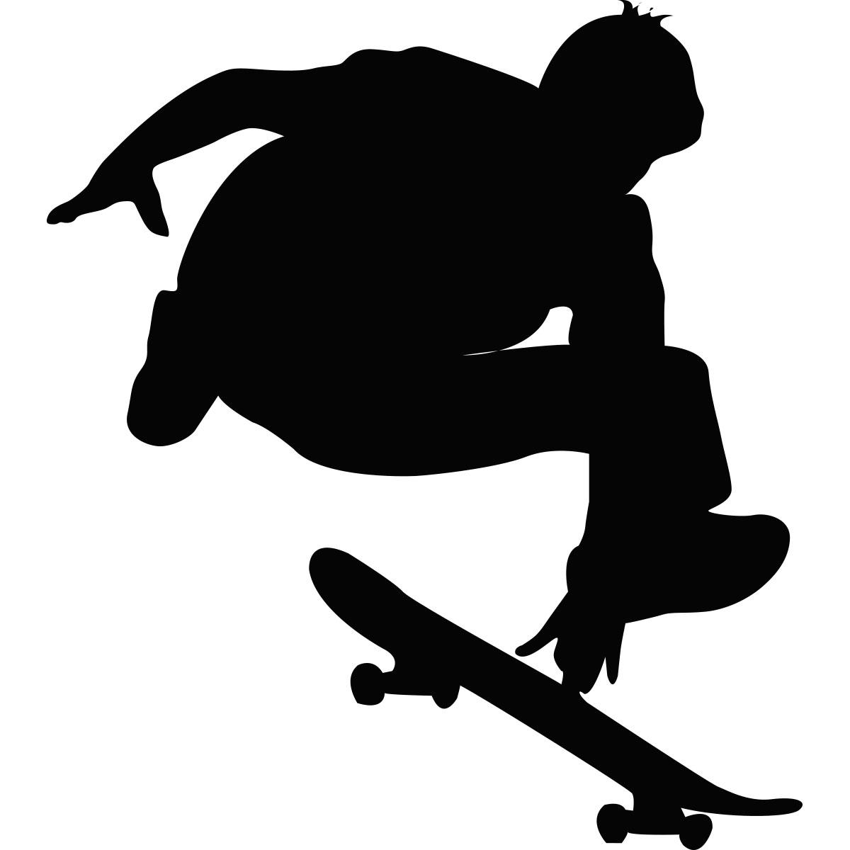 Sticker Silhouette jeune Skater - Stickers Musique ...
