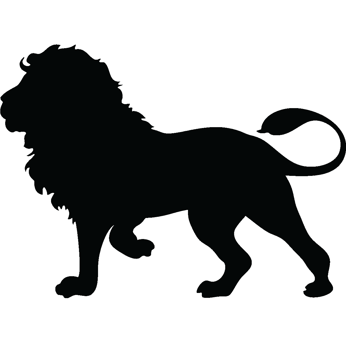 Stickers muraux Animaux - Sticker Silhouette lion ...