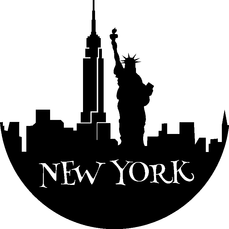 stickers muraux new york sticker silhouette new york ambiance. Black Bedroom Furniture Sets. Home Design Ideas