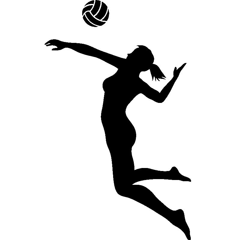 Stickers Sport Et Football Sticker Silhouette Volleyeuse