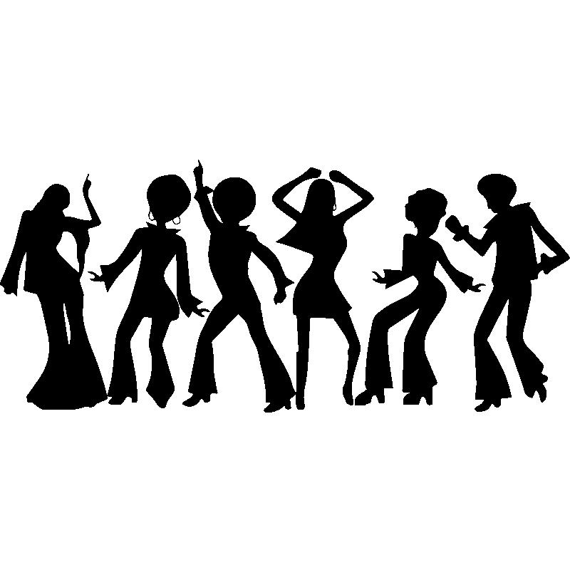 Top Sticker Silhouettes danseurs Disco - Stickers Musique & Cinema  JS65