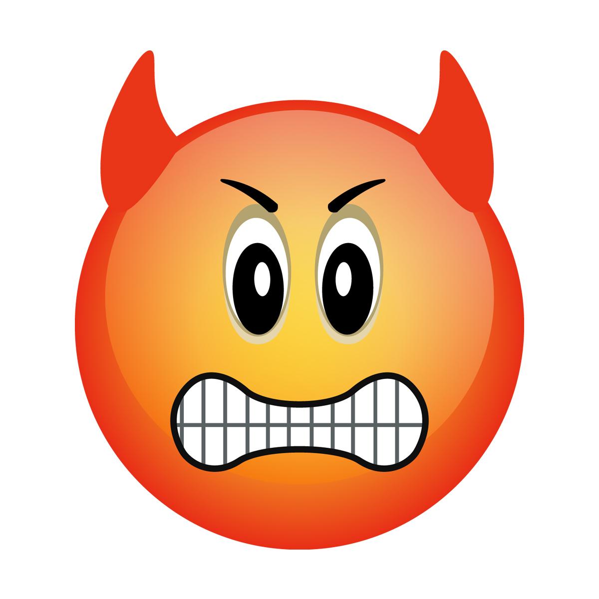 Stickers muraux pour les enfants  Sticker Smiley Très en colère  Ambiance s